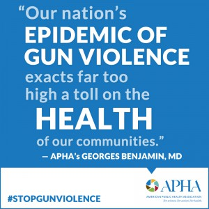 Our nation's epidemic of gun violence exacts far too high a toll on the HEALTH of our communities