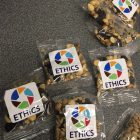 bags of trail mix with Ethics Section logo
