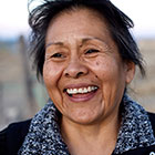 smiling Native American woman
