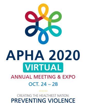 logo, APHA 2020 Virtual Annual Meeting and Expo, Oct. 24-28, Creating the Healthiest Nation: Preventing Violence