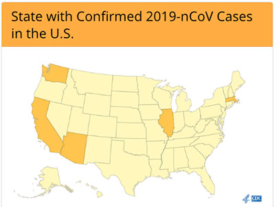State with confirmed 2019-nCoV cases in the U.S.